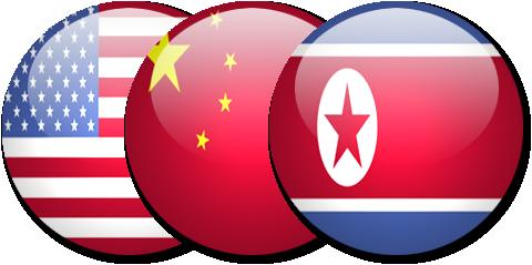 USA_China_North-Korea_Flag